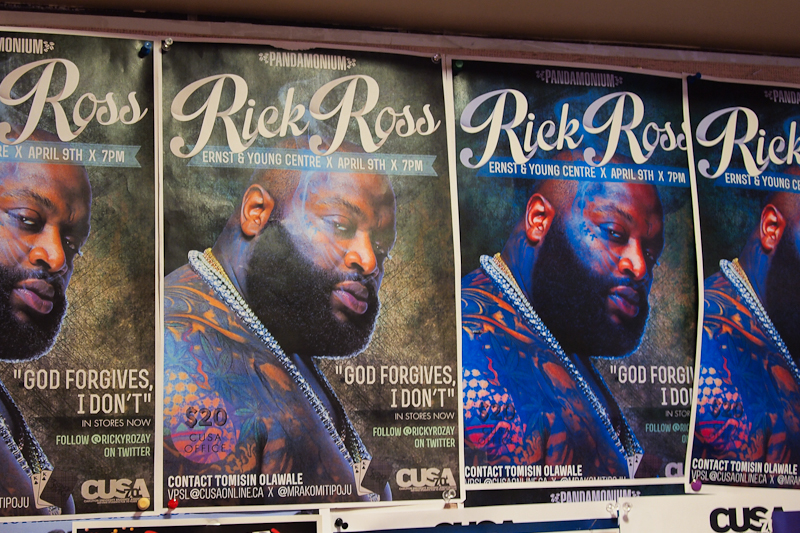 """After protests over the alleged promotion of sexual violence in Ross' lyrics, and the withdrawal of CUSA's support for the concert in an April 5 statement, Urban Jamz cancelled the concert citing """"security concerns."""" (File photo)"""